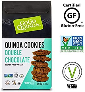 GoGo Quinoa Double Chocolate Chip Cookies, Individually Wrapped Vegan Snack, Non GMO and Gluten Free, Gourmet Treat 28 OZ (48 Count)