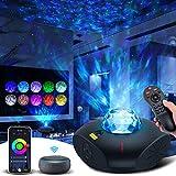 Proyector de estrellas Galaxy Proyector Luz nocturna Trabajo 360 Pro con Alexa Bluetooth Altavoz musical Ocean Wave Smart proyector de luz de estrella para dormitorio de bebés niños adultos