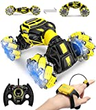 RC Cars, DoDoeleph 4WD 2.4GHz ON/Off-Road Remote Control Car Truck 360° Rotation RC Stunt Car 1:16 with 2 Batteries Light Music RC Crawler Car for Boys Kids Teens and Adults