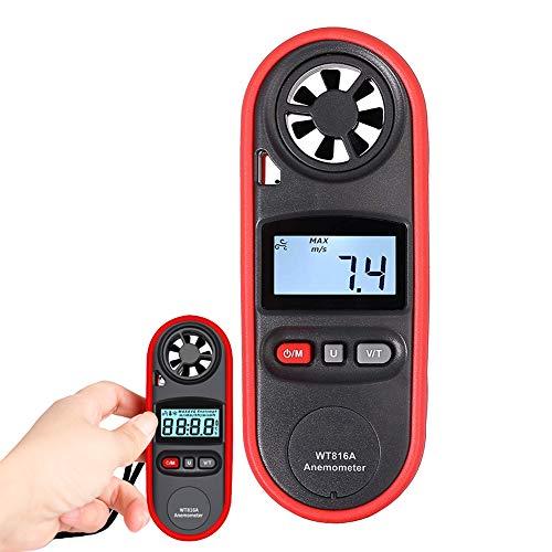 YMJJ Digitaler Anemometer LCD Handwindgeschwindigkeitsmesser IP67 Wasserdichter Windmesser für Windsurfen, Segeln, Angeln, Drachenfliegen und Bergsteigen usw.