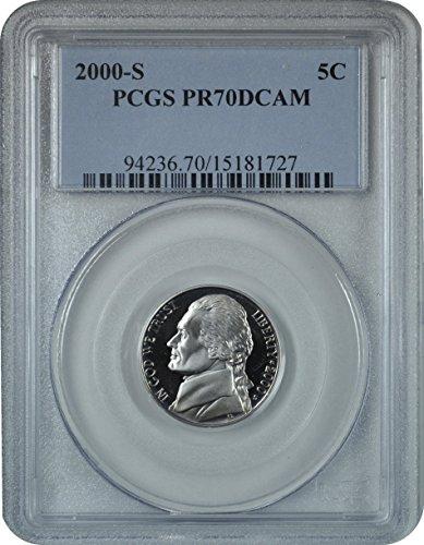 2000 S Jefferson Nickel Nickel PR70DCAM PCGS