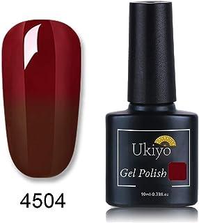 Ukiyo ジェルネイル カラージェル ワインレッド カメレオンカラージェル 温度により色が変化 UV/LED対応 1色入り 10ML 【全6色選択可】