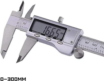 Trifycore Pied /à Coulisse num/érique t/ête en m/étal Inoxydable /Écran LCD /Étrier en Acier Vernier r/ègle avec Plage de Mesure de Cas 0-150mm Noir W