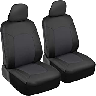 Motor Trend M294-GR Honeycomb Synthetic Leather Car Seat Covers - Breathable Knit Mesh Primum Fabric- Smooth Luxury Surface Black & Gray