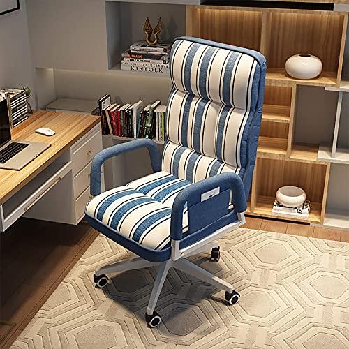 Renovation House Computerstuhl Ergonomischer Bürostuhl mit hoher Rückenlehne Hubtisch mit Armlehne Weiche Kopfstütze Verstellbarer Drehstuhl Gepolstertes Sitzkissen für Erwachsene Rosa A 51x52x57cm