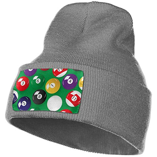 ZJIIXON Sombrero de punto Unisex Moda Simplicidad Beanie Sombrero Billar Bolas Negro
