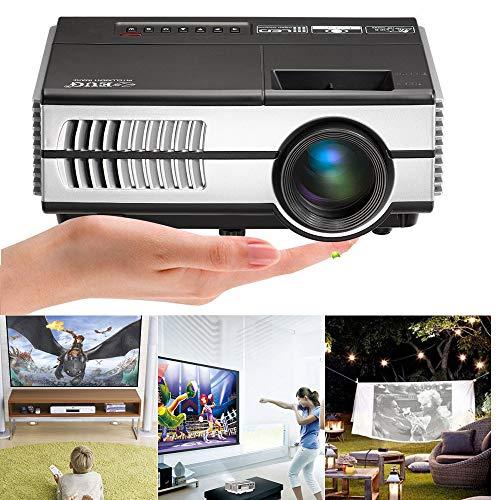 Portable LCD LED Projector Support HD 1080P Mini Home Video Projectors 2800 Lumen Multimedia...