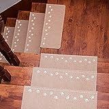 Sysyrqcer 10 Paquete Luminoso Alfombra Escalera Pisada Resistente a Skid Resistente a Goma Amplia Amplia Sin Deslizamiento Alfombra Escalera Pisadas Lavable Escalera Mat