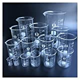 HXF Hxfang 1 Conjunto de Vidrio de Vidrio Borosilicato 3.3 Copa de Cocina de Vidrio de medición de labotatoria (Capacity : Set 3)