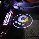 ZHANGDAN Porta LED per Auto Logo Illuminazione proiettore Luci di Benvenuto, Porta per Auto Proiettore Laser Lampada Decorazione Modifica Styling Accessori per Smart 450 451 453 Fortwo Forfour