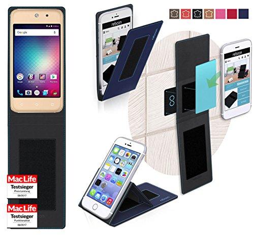 reboon Hülle für BLU Vivo 5 Mini Tasche Cover Case Bumper   Blau   Testsieger