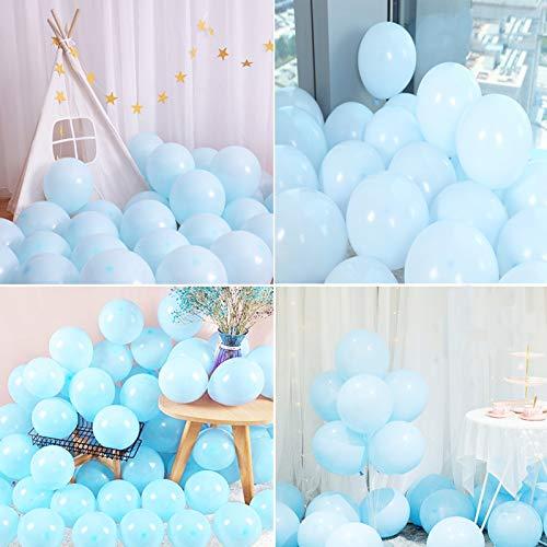 Globos de Cumpleaños,azul Globos Fiesta,azul Globos de Helio,10 Pulgada Macaron Colores Látex Balloons para bodas, fiestas de cumpleaños y decoración(azul)