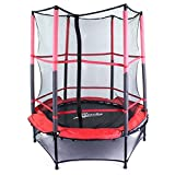 Riscko Cama elástica con Red Protectora trampolín con Zona de Salto de 140 cm de diámetro, soporta hasta 80 Kilos de Peso Modelo 7105C
