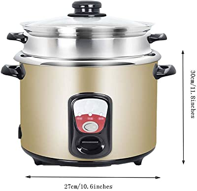 AQSG Electric Multi Cooker Automatic Keep Warm with Glass Lid Easy to Clean