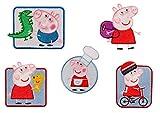 Mono-Quick Peppa Pig, 5er Set Aplicaciones bordadas para coser o planchar, poliéster, multicolor, MD