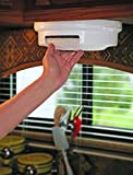 G&GOnline Paper Plate Holder Storage Organizer Rack Dispenser Mount Under Cabinet RV Shelf
