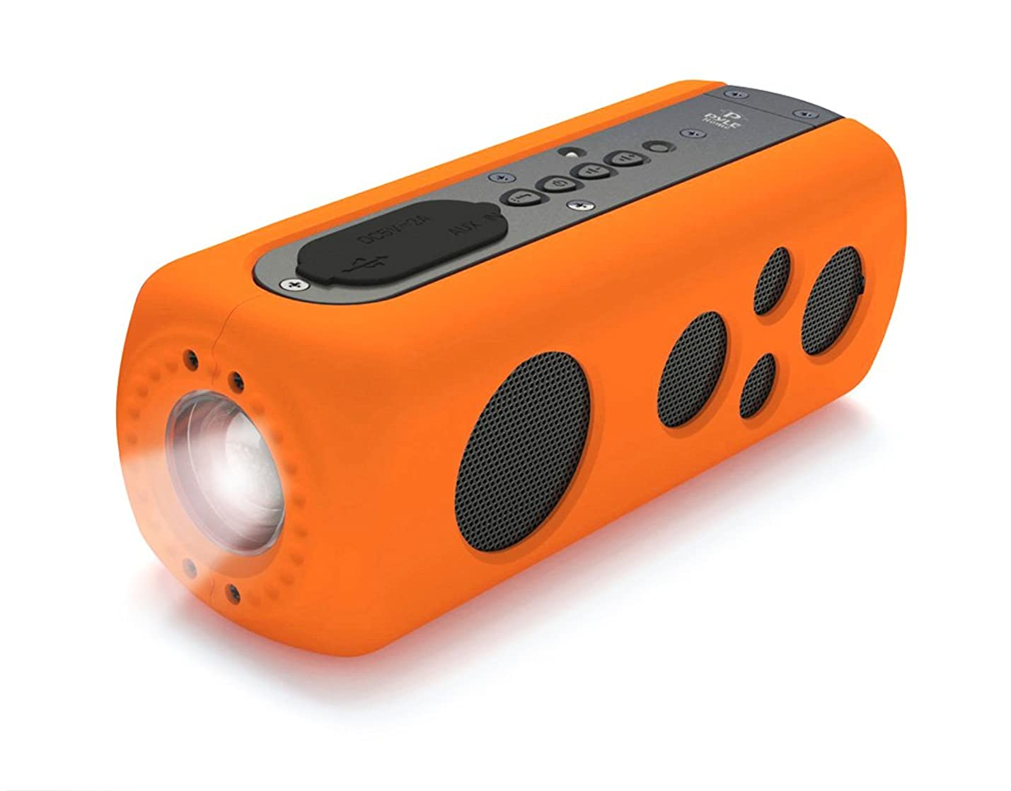 Sound Box Splash Sports Portable Speaker - Wireless Rugged Waterproof Bluetooth Compatible audio Stereo with AUX In Jack, Rechargeable Battery - iPhone Android iPad, MP3 - PyleSport PWPBT75OR (Orange) dwakvdigbzbfm633