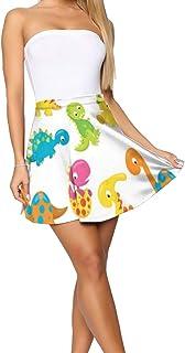 FFMMdog Design Theme Summer Women's Shorts Skirt Eiffel Tower Pattern