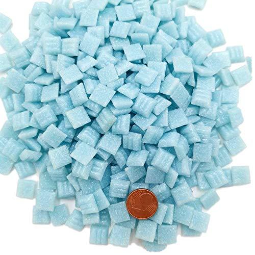 Armena 1x1cm Mosaikstein Mosaikfliesen Glas 1x1 cm 300g ca 420 Stück-Leicht Blau