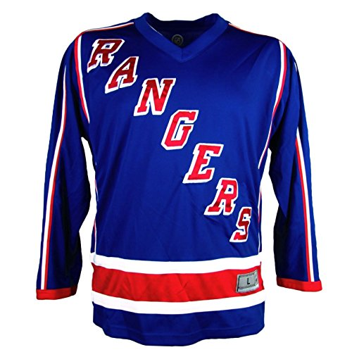 NHL New York Rangers Men's Embroidered Practice Away Hockey Jersey, Blue