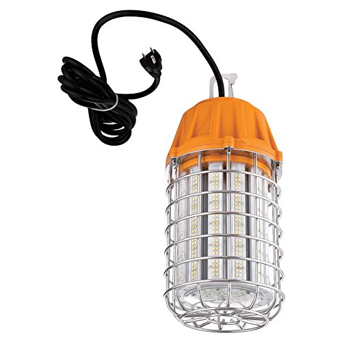 Westinghouse Lighting 6349300 One LED Indoor Plug-in Work Light, Orange Finish with Metal Cage