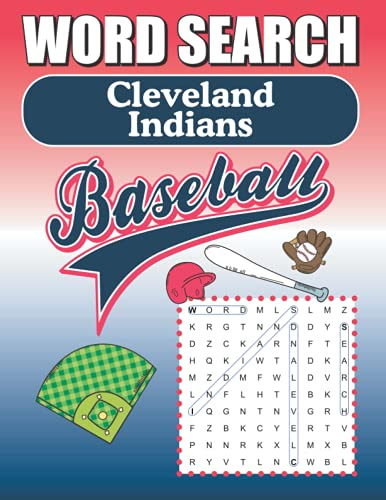 Cleveland Indians Word Search: Word Find Puzzle Book For All Indians Baseball Fans