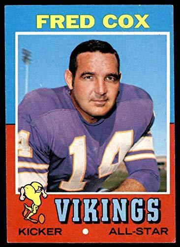 1971 Topps # 96 Fred Cox Minnesota Vikings (Football Card) EX Vikings Pittsburgh