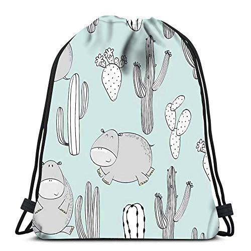 Lsjuee Backpack Drawstring Bag Japanese Traditional Mesh Women&Men Sport Gym Sack