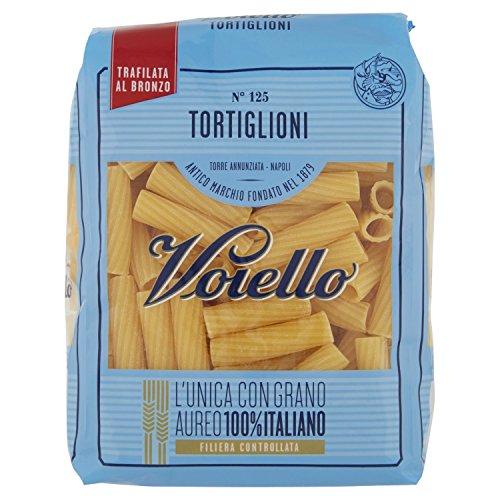 Voiello Pasta Tortiglioni N.125, Pasta Corta di Semola Grano Aureo 100%, 500g