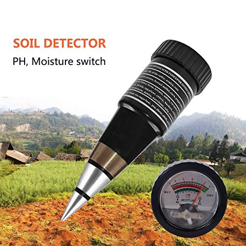 Best Price KINTRADE Short Soil Tester, Portable PH Test Humidity Tester, Pointed Soil Tester, for Ga...