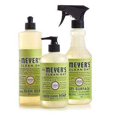Mrs. Meyers Clean Day Lemon Verbena Kitchen Basics Set (Bundle)