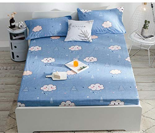 GTWOZNB Microfibre Flat Sheet - No-Iron Bed Sheet is Breathable,Soft Waterproof bedspread, dustproof and breathable-22_1.2 * 2m