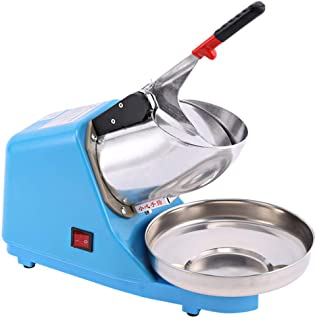 Electric Ice Crushers Machine - 380W Ice Shaver Machine, Stainless Steel Snow Cone Maker for Ice Cream, Cold Drinks, Fruit...