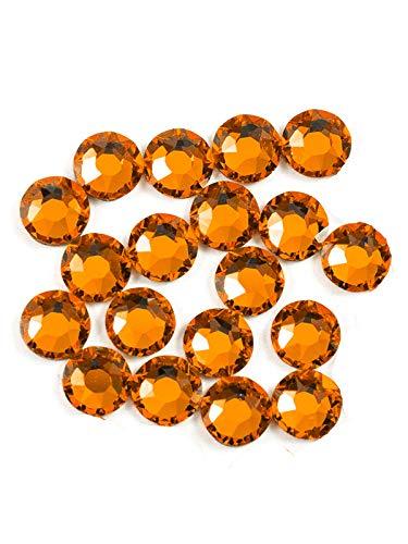 Swarovski - Create Your Style 47600343 Xirius Rose Flat Back Crystals, Orange 20 Piece