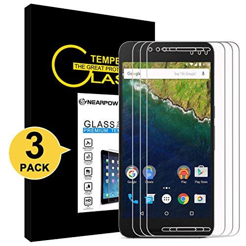 NEARPOW [3 Stück] Huawei Nexus 6P Panzerglas Bildschirmschutzfolie, Schutzfolie 9H Härte, Anti-Kratzen, Anti-Öl, Anti-Bläschen, Anti-Fingerabdruck