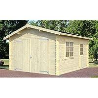 Jardín Hogar/madera Garaje Ulmus U48naturbelassen–34mm listones hogar, superficie: 16,50M², tejado