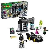 DUPLO Super Heroes DUPLO DC Comics Batman Batcueva con Batmóvil y JOKER Coche de Juguete para Niños Pequeños a partir de 2 Años, multicolor (Lego ES 10919)