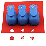CADY Craft Punch Paper Punches 5/8-inch papel Punches 3 piezas/set Flower. snowflake. Leaves