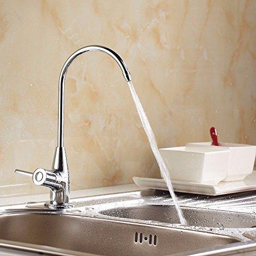 Grifo para cocina grifo lavabo cocina fregadero puro grifo principal cobre único frío del dispersor plano cocina piscina depurador de agua para uso doméstico potable grifo recto