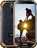 DOOGEE S40 4G Télephone Portable Debloqué Incassable Android 9,0, 3GO+32GO IP68/IP69K Smartphone Etanche Antichoc Double SIM 5,5 '', 4650mAh Cameras 8MP+5MP, NFC Empreinte Digitale Face ID, Orange