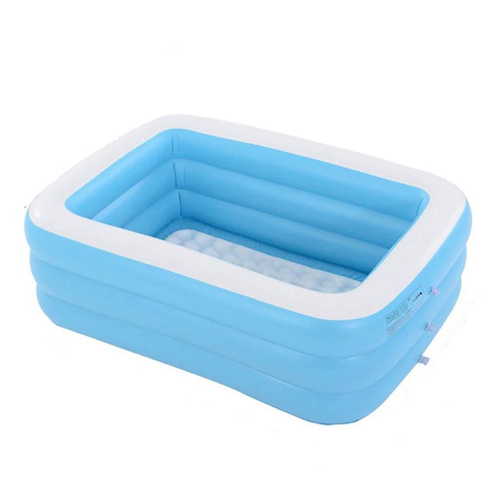 Piscina Hinchable Infantil, Azul Rectangular De Tamaño Real Piscinas Easy Set Kiddie con Bomba Y Kit De Parches, para Los Niños, Adultos, Bebés, Niños(con Capacidad para 12 Personas),1.5m 3layers: Amazon.es: Hogar