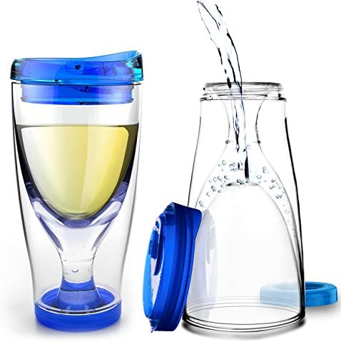 Asobu Chill Vino2Go Insulated Wine Tumbler 10 Ounce Blue product image
