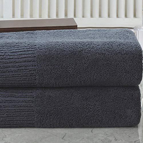 WLQCPD Handdoek,100% katoenen badhanddoek voor op reis voor thuis Superabsorberend gezichtshanddoek badkamer sauna Handdoeken, donkergrijs, 1pc gezichtshanddoek