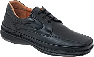 CACTUS Zapato Cordones Uniformes Piel Tallas GRANDES-4001 (Negro, 49)
