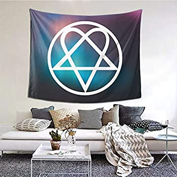 Tv Background Wall Heartagram Tattoos Blanket 60 X 51 Inches Wall Blanket Tapestry Indoor Tapestries