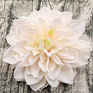 7 pcs Diameter 15cm high-Grade Dahlia Crepe Artificial Flower Head Wedding Home Decoration Handmade DIY Silk Flowers