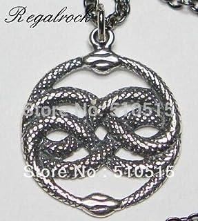 Gabcus Neverending story Bastian Bux Orin The Aurin Atreyu Infinite Snake Pendant Necklace