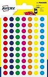 Avery Italia PSA08MX Etichette Adesive Rotonde, A6, Multicolore...