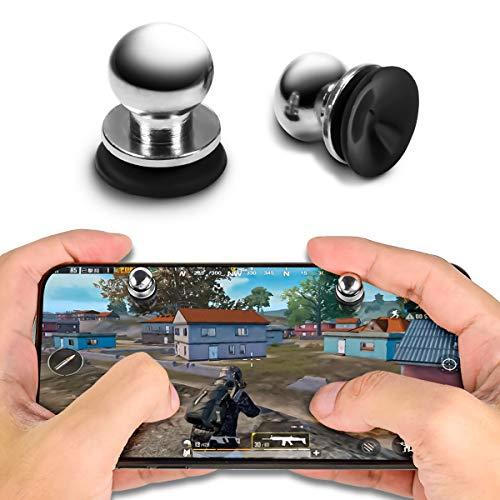 Newseego PUBG Mobile Game Controller,[1 Paar] Empfindlich Trigger Metallkugel mit Silikon Saugnapf Shooter Joysticks Ziel- und Schießenauslöser Tasten für PUBG/Messer Out/Rules of Survival