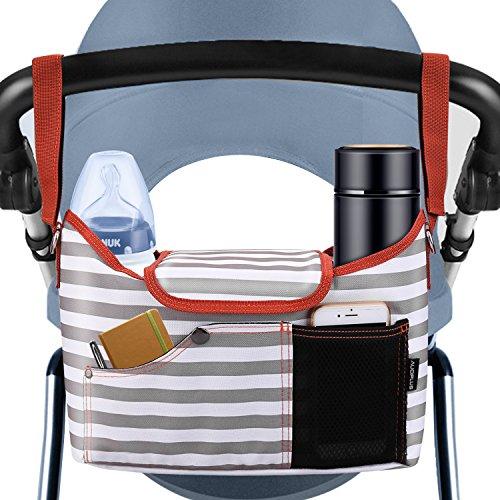 AUOPLUS マザーズバッグ ママバッグ 2way 撥水 大容量 軽量 トートバッグ ショルダーバッグ ベビーカー用品...